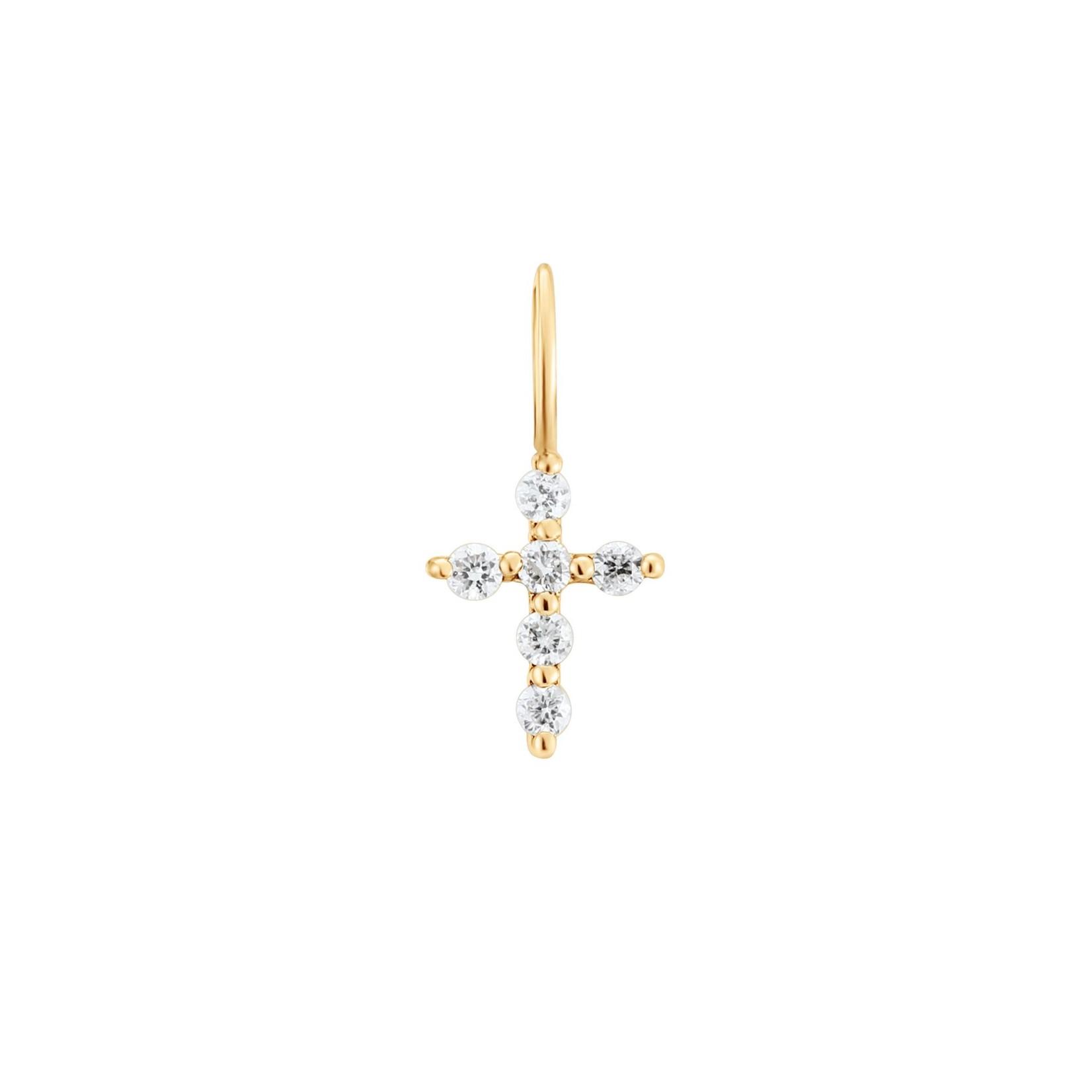 Aurelie Gi Grace Diamond Cross Charm
