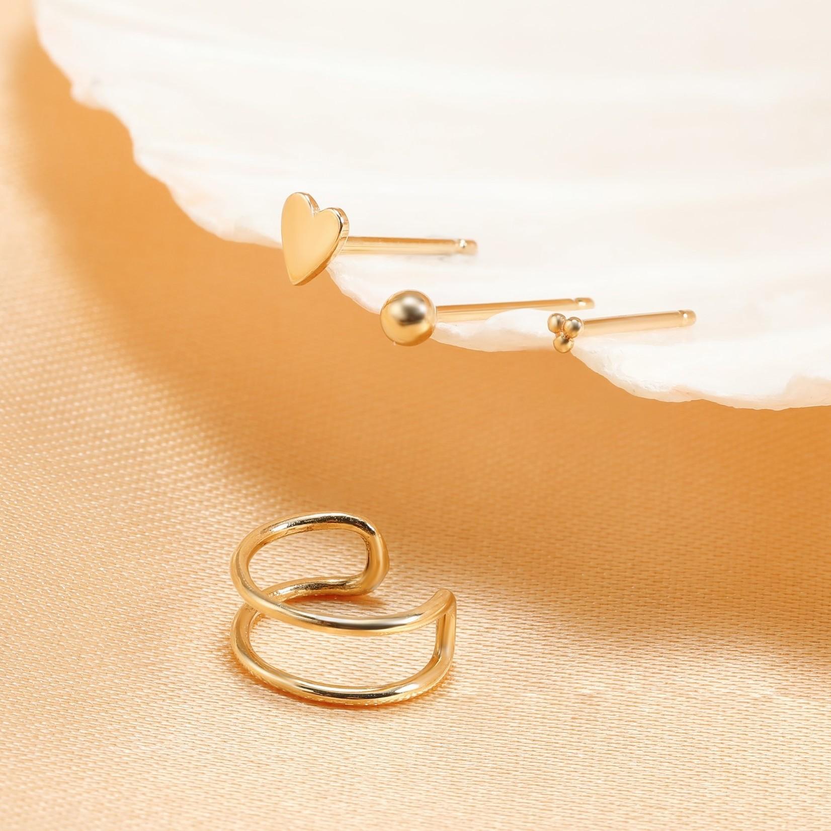 Aurelie Gi Sia Sphere Gold Stud Earrings