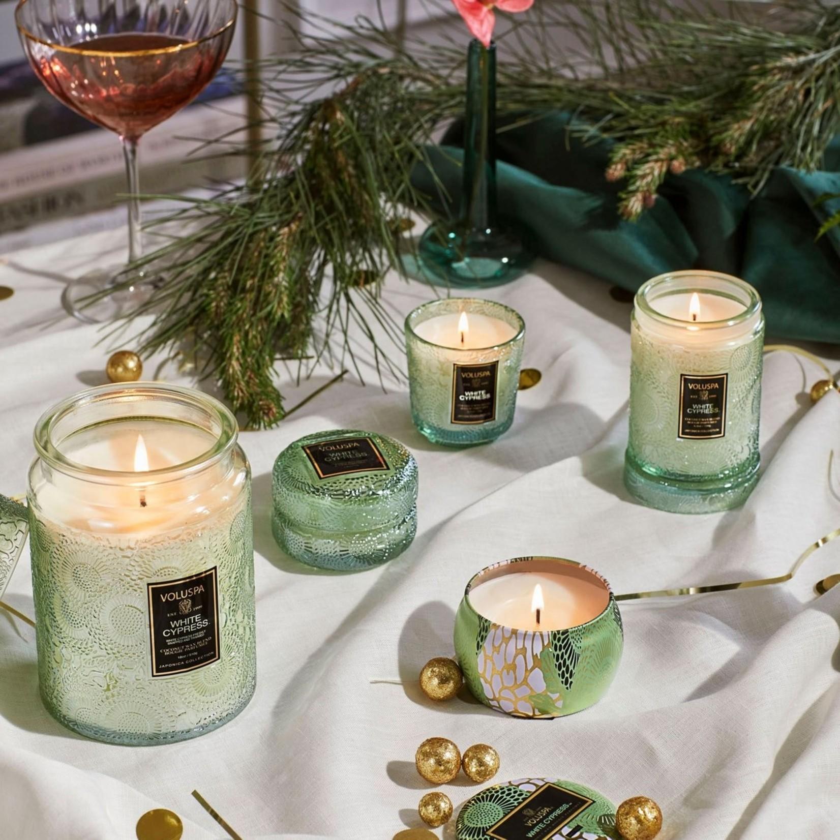 Voluspa White Cypress Mini Tin Candle