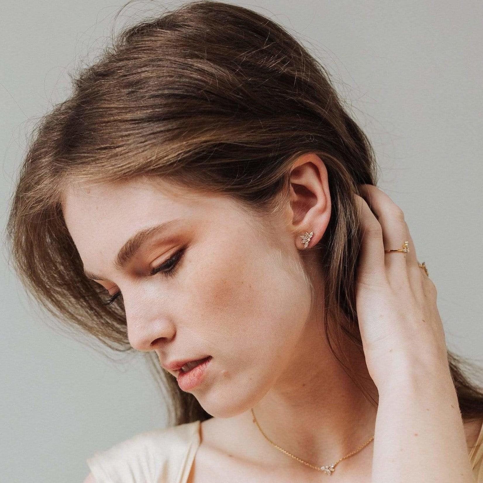 Lover's Tempo Harlowe Stud Earrings Gold