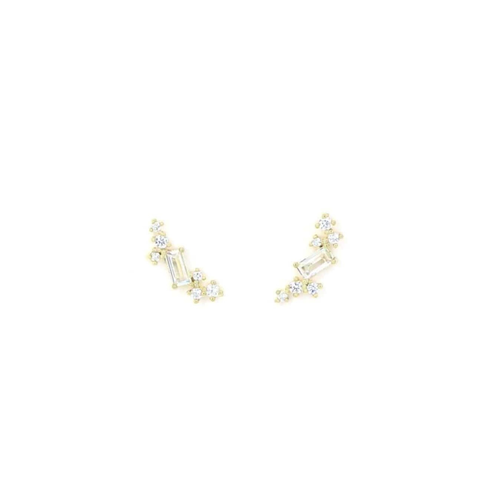 Lover's Tempo Laurel Climber Earrings Gold