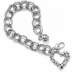Brighton Pebble Heart Bracelet Silver
