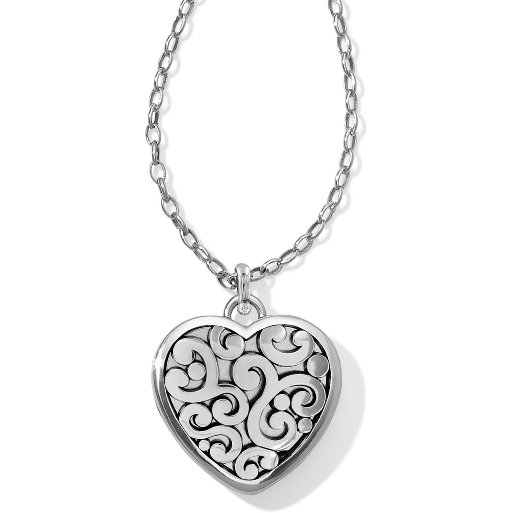 Brighton Contempo Heart Convertible Locket Necklace