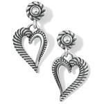 Brighton Callie Love Heart Post Drop Earrings