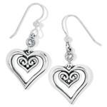 Brighton Alcazar Duet Heart French Wire Earrings
