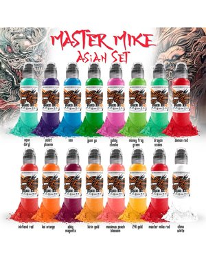 World Famous Ink World Famous Ink - 16 Color Master Mike Asian Set