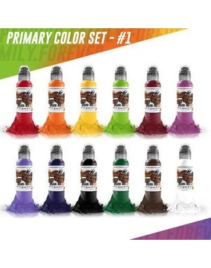 World Famous Ink World Famous Ink - 12 Color Primary Set #1