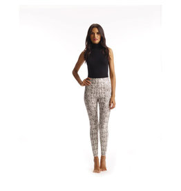 Control Faux Leather Animal Legging