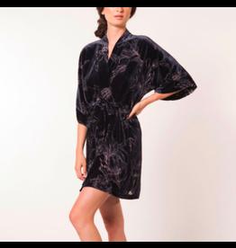 Christine Faberge Velvet Short Robe