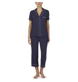 Kate Spade KS Pin Dot Short Sleeve Capri Pajama