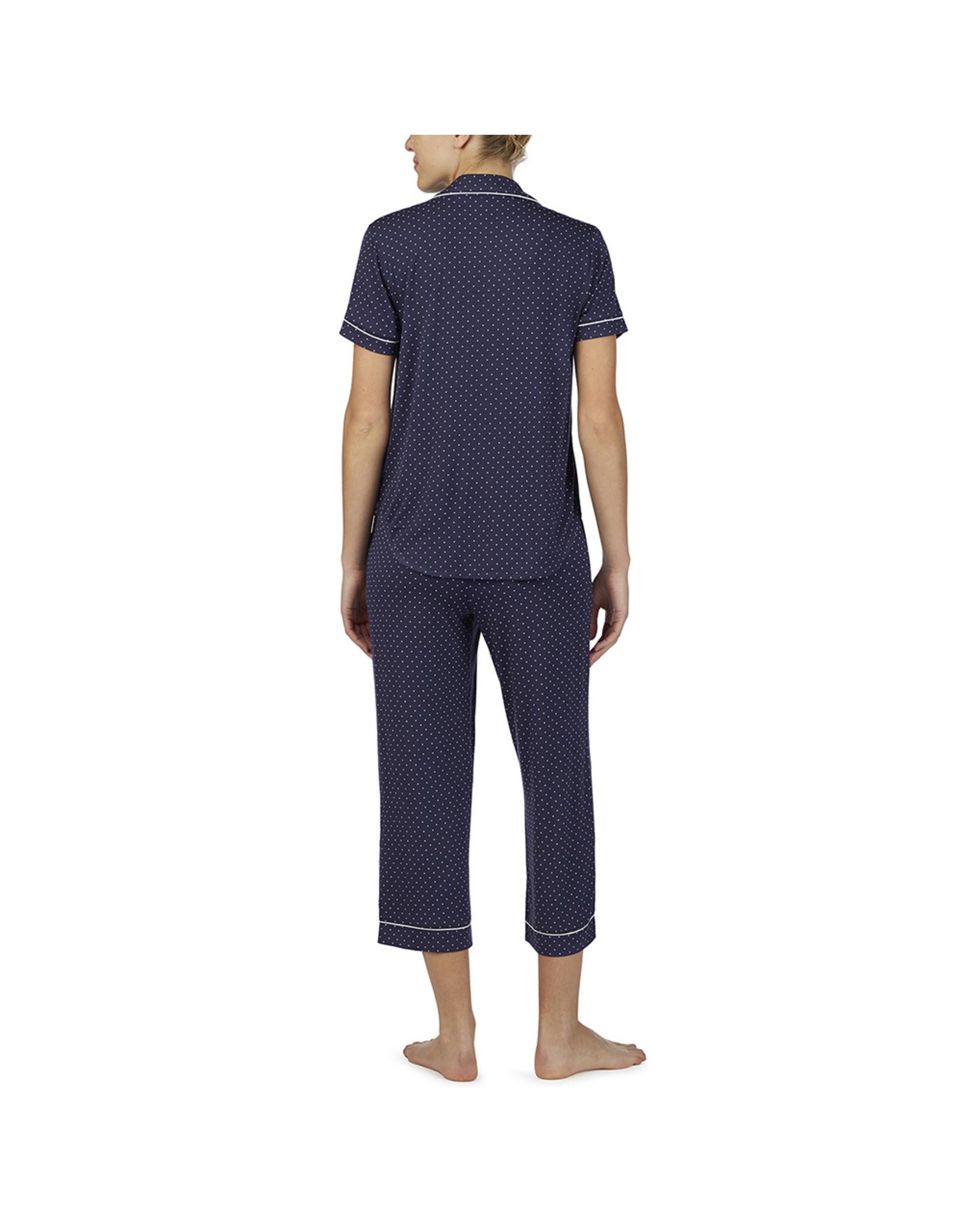 Kate Spade Pin Dot Short Sleeve Capri Pajama