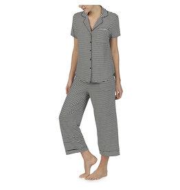Kate Spade KS Black & White Stripe Capri Pajama Set