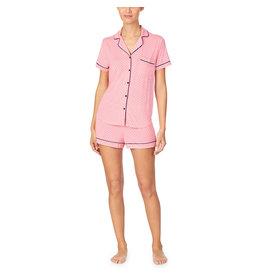 Kate Spade Salmon Rose Pin Dot Modal Shorty Pajamas
