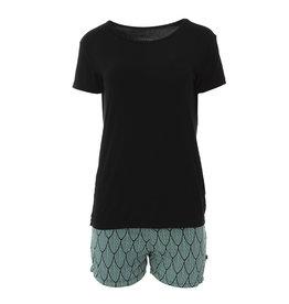 Kickee Shorts and Solid T-Shirt PJ Set