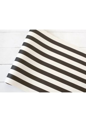Hester and Cook Black Classic Stripe Runner