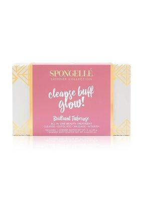 Spongelle Brilliant Tuberose Shimmer Gift Set
