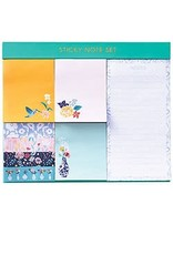 Jade Meadow Floral Sticky Note Set