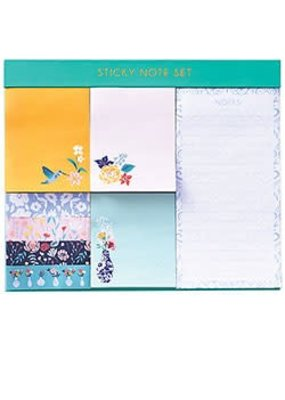 Waste Not Paper Jade Meadow Floral Sticky Note Set