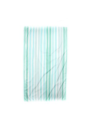 Aruba Stripe Giant Beach Towel in Mint/Water