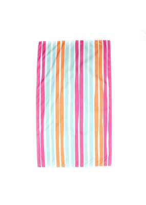 Royal Standard Aruba Stripe Giant Beach Towel in Pink/Aruba