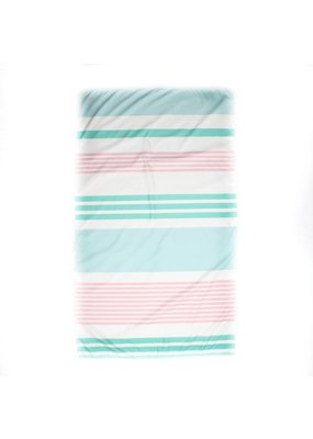 Paradise Stripe Giant Beach Towel in Mint/Sky