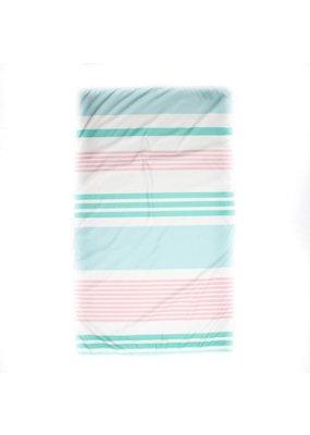 Paradise Stripe Giant Beach Towel in Mint/Sky