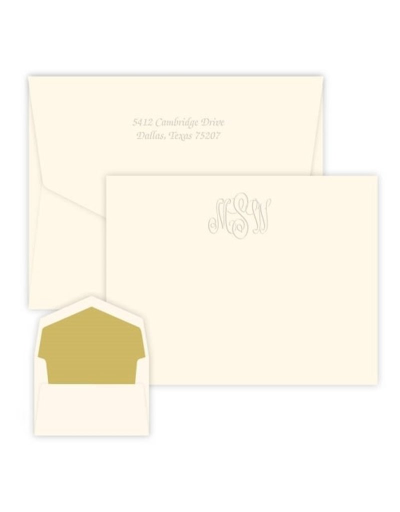 Classic Monogram Card-Embossed