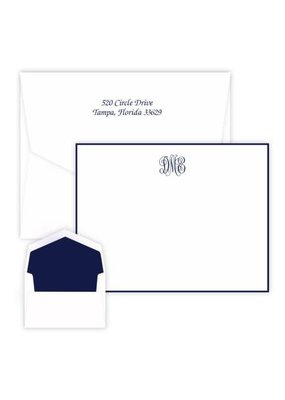 Embossed Graphics Delavan Monogram Card
