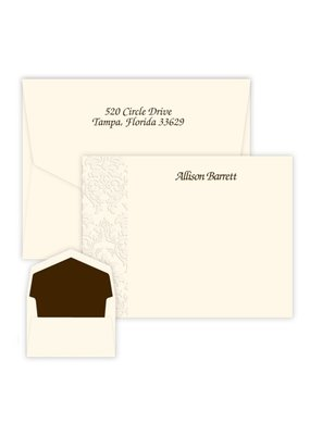 Embossed Graphics Damask Card