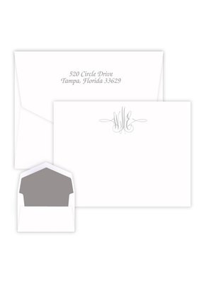 Embossed Graphics Virginia Monogram Card