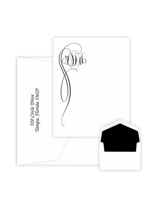 Embossed Graphics Fiona Monogram Card