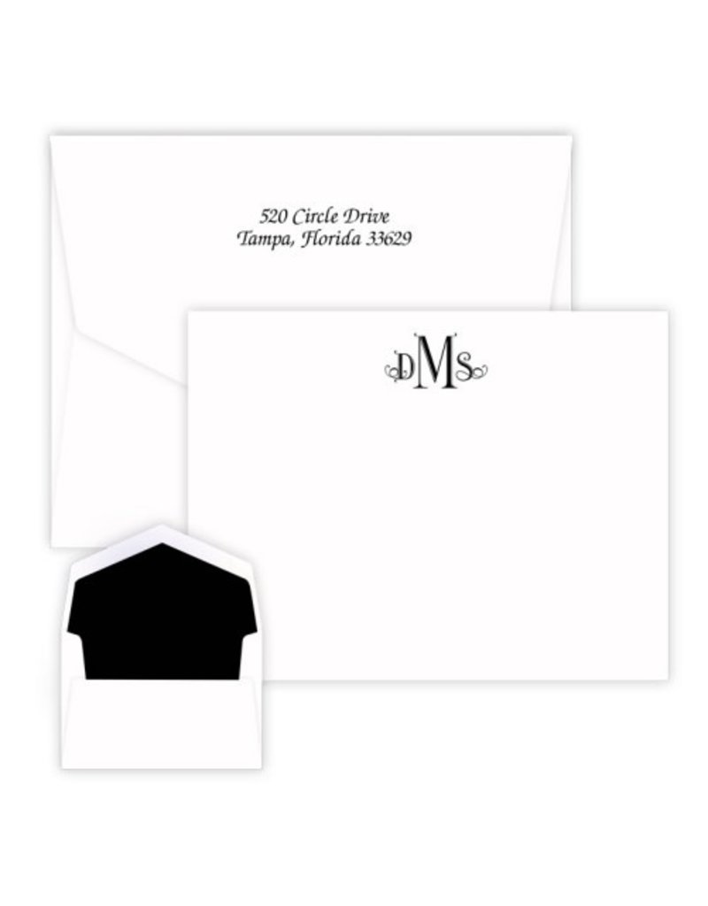 Embossed Graphics Wheaton Monogram Card