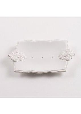 Fleur de Lis Ceramic Soap Holder