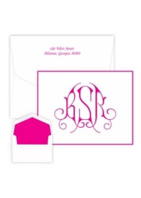Embossed Graphics Victoria Monogram Note