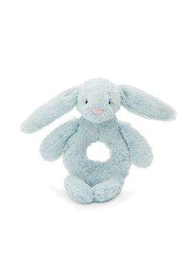 Jellycat Bashful Light Blue Bunny Ring Rattle