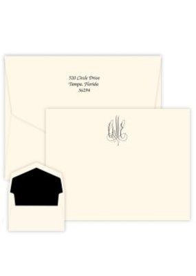Embossed Graphics Roberta Monogram Apex Card