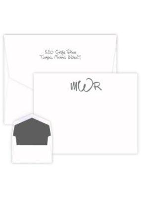 Embossed Graphics Wheaton Monogram Apex Card