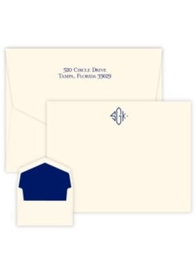 Embossed Graphics Delavan Monogram Apex Card