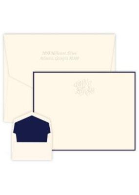 Delavan Monogram Apex Card-Embossed