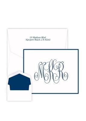 Pearl String Monogram Note