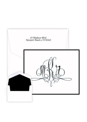 Embossed Graphics Pearls of Paris Monogram Note