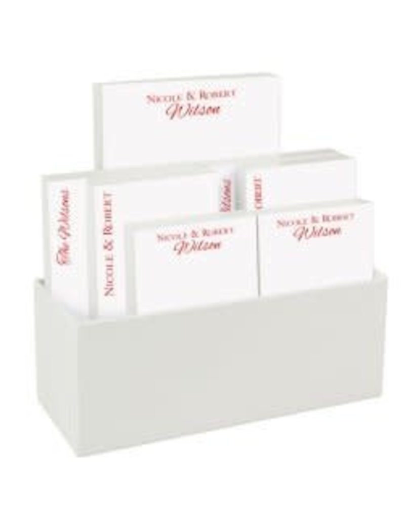 Embossed Graphics Couples with White Linen holder