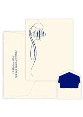 Embossed Graphics Fiona Monogram Apex Card