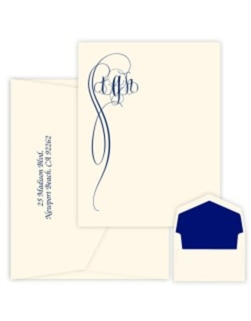 Fiona Monogram Apex Card