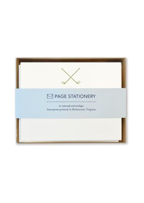 Page Stationery Golf Trio Letterpress Stationery Set