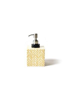 Amber Herringbone Square Soap Pump