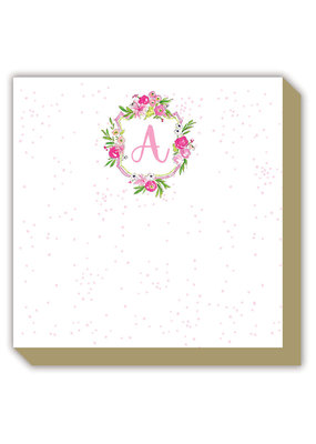 Mini Luxe watercolor Notepad Monogram A