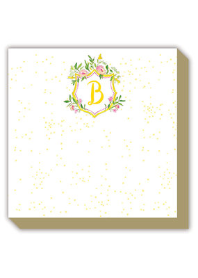 Mini Luxe watercolor Notepad Monogram B
