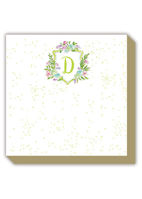 Mini Luxe watercolor Notepad Monogram D
