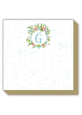 Mini Luxe watercolor Notepad Monogram G